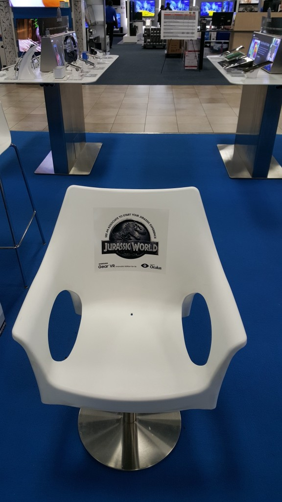 Gear VR Jurassic World Poster Chair Front
