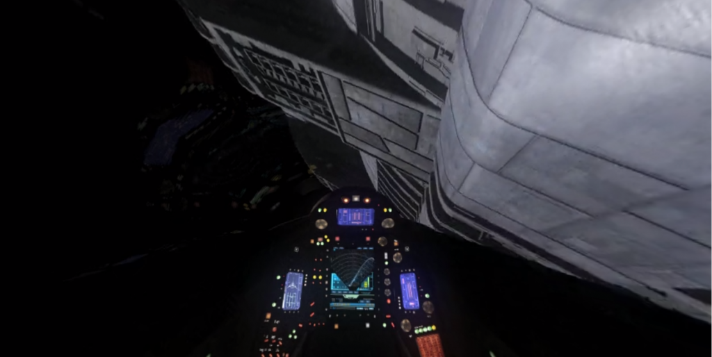 Galactica Fly By
