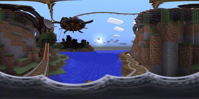 Minecraft Roller Coaster Ride