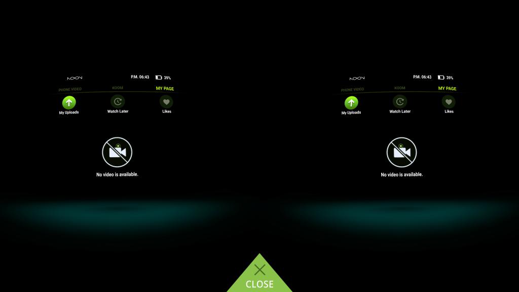 Noon VR App My Page