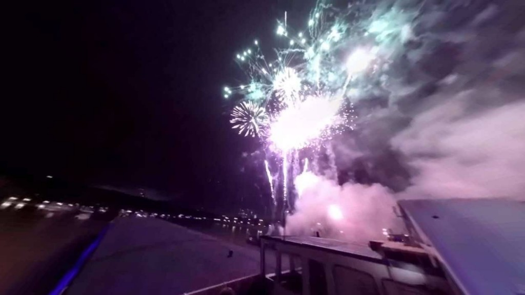 Firework on Moscow River - Moscow Days Festival